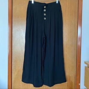 Shinestar Button Up Wide Leg Pants